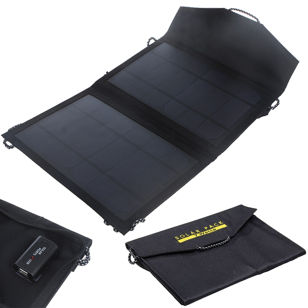 solarladeger t usb 7 watt externer akku solar panel charger power bank ladeger t ebay. Black Bedroom Furniture Sets. Home Design Ideas